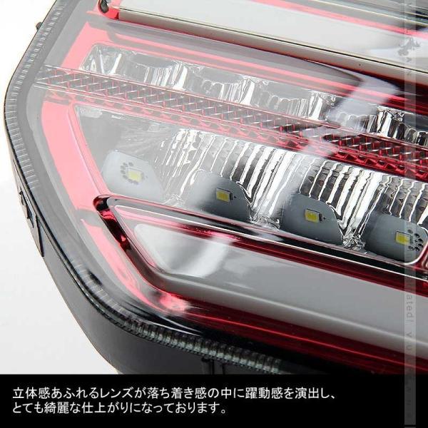 新型ジムニーJB64W/JB74W シーケンシャルウインカー内蔵 LEDテールランプ 流れるウインカー オープンランニング バック テール ブレーキランプ パーツ|vulcans|07
