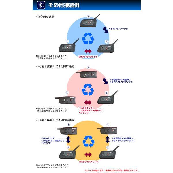 バイクインカム インカム バイク 4人同時通話可能 インターコム Bluetooth 1000m通話可能 4台セット (クーポン配布中)|w-class|04