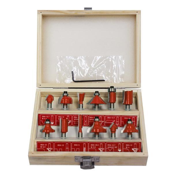 トリマールータービットセット12本セット木工作業素材加工電動トリマー用