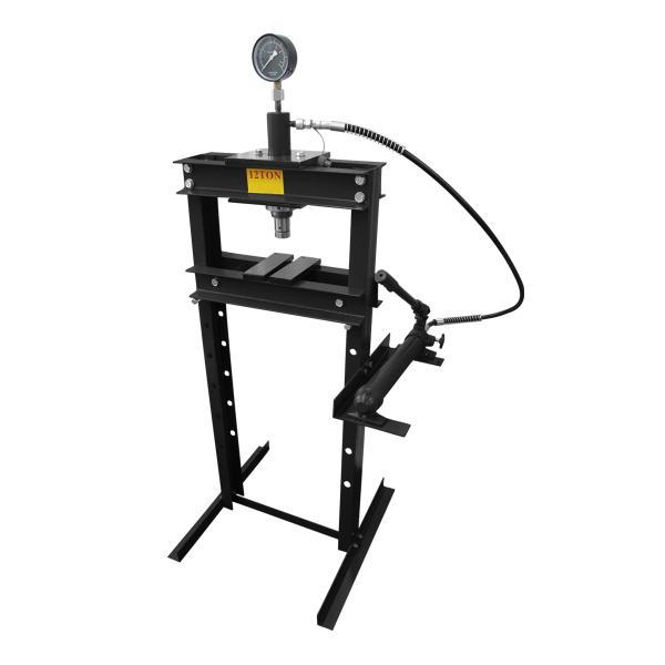 油圧プレス 12t 2トン 油圧プレス機 手動 メーター付 12トン 黒