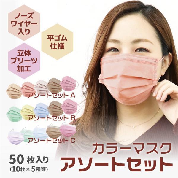 不織布マスク 100枚 平ゴム 99%カット 宅配便 プリーツマスク 使い捨て 立体3層不織布 高密度フィルター 花粉症 ほこり 予防 やわらかマスクの画像