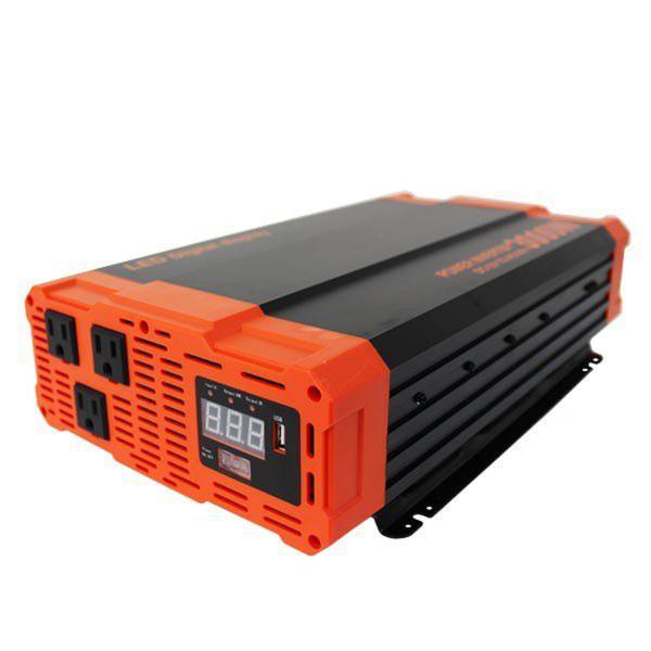 災害時の電力確保に インバーター バッテリー ポータブル電源  12v 3000W DC12V / AC100V  疑似正弦波 矩形波 USBポート付