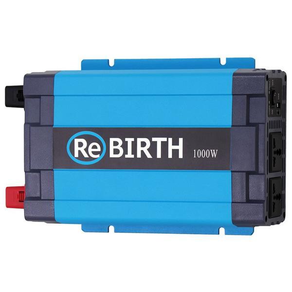 正弦波インバーター バッテリー ポータブル電源 防災 非常用電源 車中泊 アウトドア 12v 定格1000W DC12V / AC100V  50Hz/60Hz切替可能 USBポート付