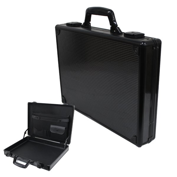 アタッシュケース A3 A4 B5 アルミ 鍵付 軽量 ビジネスバッグ PCバッグ 貴重品保護 アルミアタッシュケース スーツケース ブラック