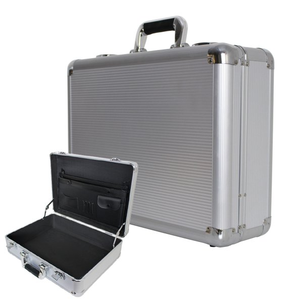 アタッシュケース A3 A4 B5 アルミ 鍵付 軽量 ビジネスバッグ PCバッグ 貴重品保護 アルミアタッシュケース スーツケース シルバー