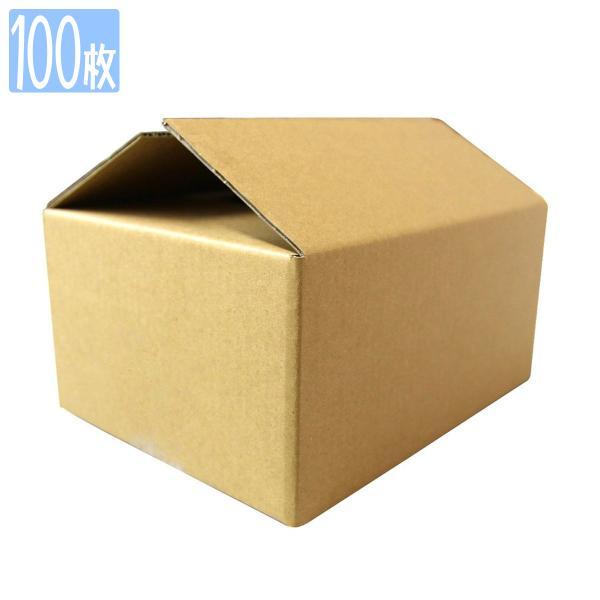 ダンボール 60サイズ 100枚 茶色 日本製 引越し 無地 梱包 段ボール 宅配便用