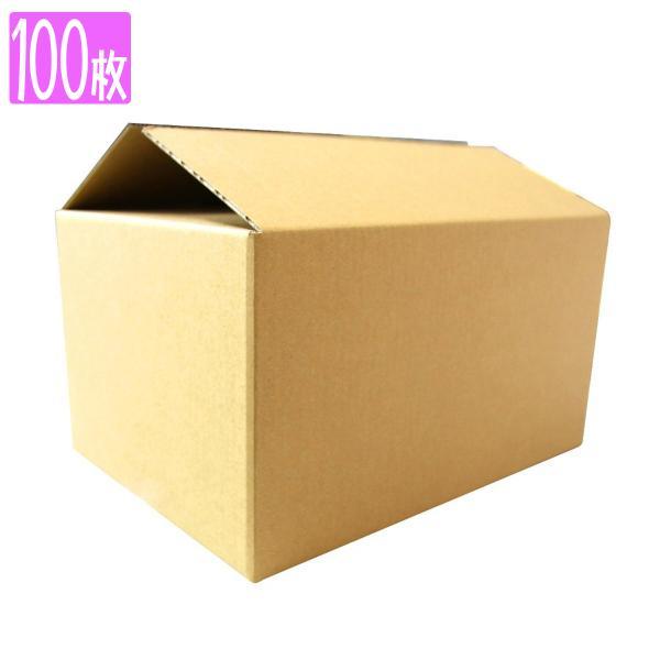 ダンボール 80サイズ 100枚 茶色 日本製 引越し 無地 梱包 段ボール 宅配便用