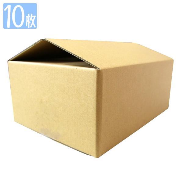 ダンボール 80サイズ 10枚 茶色 日本製 引越し 無地 梱包 段ボール 宅配便用
