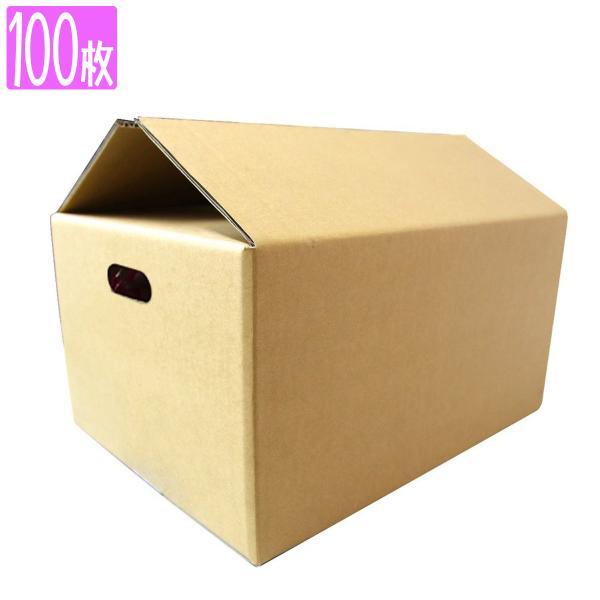 ダンボール 100サイズ 100枚 茶色 日本製 引越し 無地 梱包 段ボール 宅配便用
