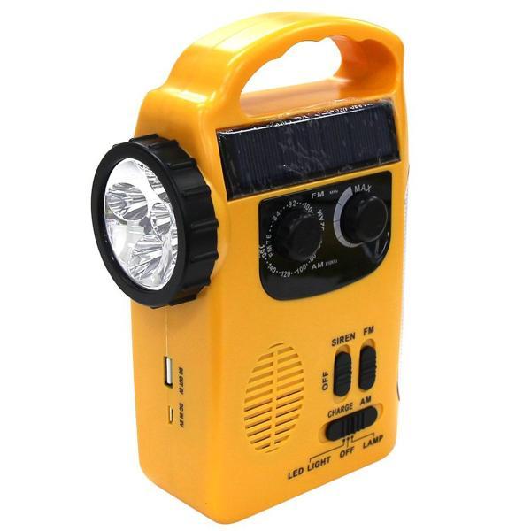 多機能防災ラジオ LEDライト スマホ充電 充電式 防災グッズ ソーラー充電 手回し 携帯ラジオ 非常用 ポータブル充電器