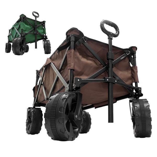 MERMONT アウトドアワゴン 折りたたみ 大型タイヤ 大容量 バギーワゴン キャリーカート 台車 耐荷重90kg キャンプ キャリーワゴン ワイドタイヤ