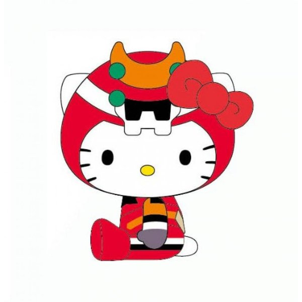 EVANGELION Synchronized with HELLO KITTY Plush Doll M RE 10087 (japan import) by Asunaro building