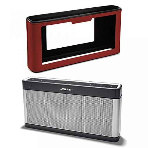 BOSE SoundLink Bluetooth speaker III with Soft Cover Bundle (Deep Red)|w-rb