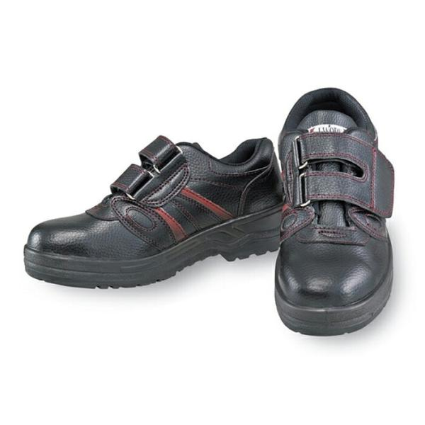安全靴 作業靴 J-WORK 安全シューズ マジックタイプ [JW-755] 23.5〜28、29、30cm 脱ぎ履き便利 おたふく手袋 お取寄せ 【返品交換不可】