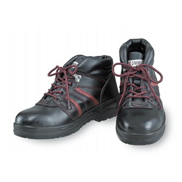 安全靴 作業靴 ワーキングシューズ J-WORK 安全シューズ [JW-760] 23.5〜28、29、30cm 足首まで保護 おたふく手袋 お取寄せ 【返品交換不可】