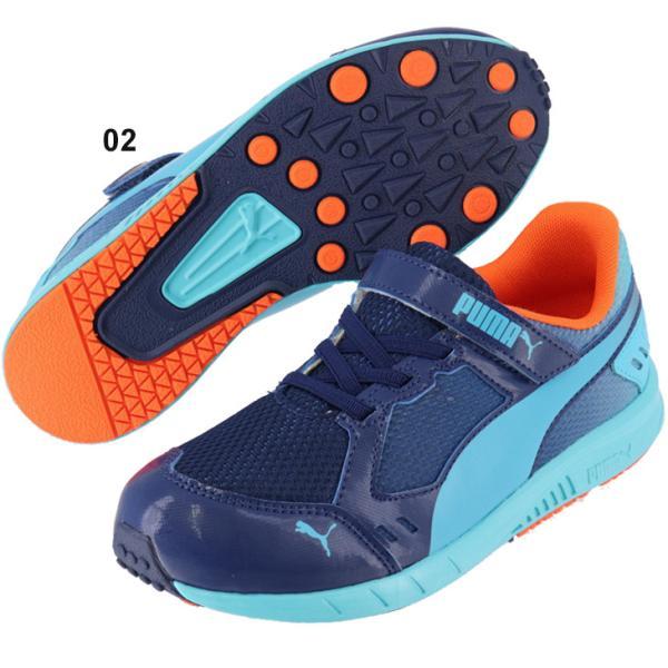 b77f190594a5a ... キッズシューズ プーマ PUMA スピードモンスターV3 スニーカー ジュニア 子供靴 17.0-24.0cm ゴム ...