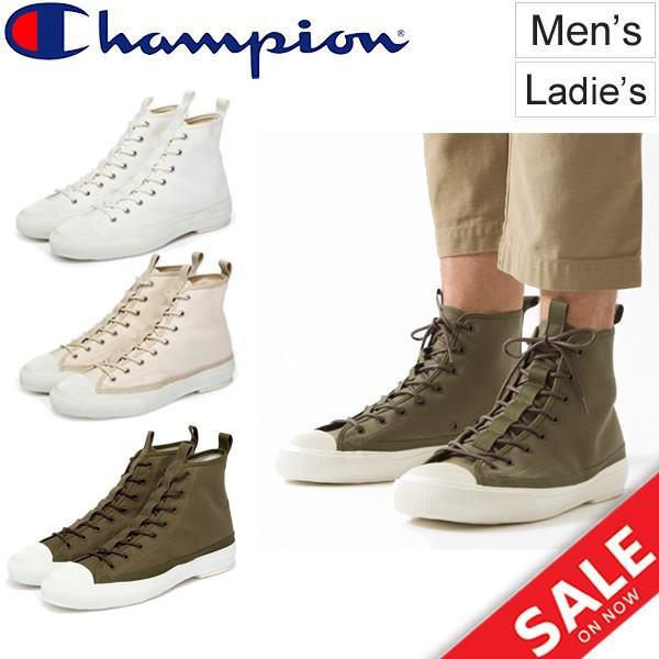 チャンピオン スニーカー ミリタリーライン ハイカットシューズ/メンズ レディース 靴 Champion ROCHESTER HI BS /くつ Foot Wear 正規品 日本製/C2-L702