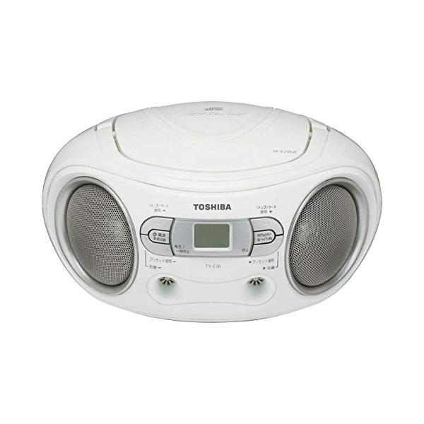 CDラジオ東芝ホワイトTY-C10WCDプレーヤーラジオ