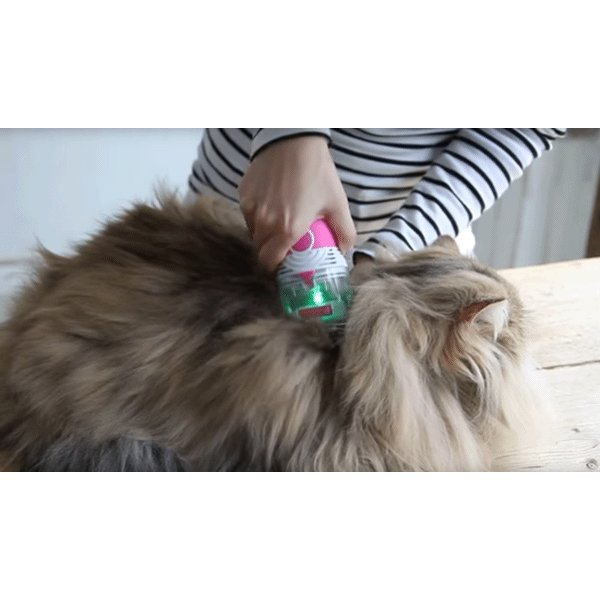 ねこ 蚤取り 猫 犬 ノミ取り器 くし コームペット用品 電動吸引 電池サービス中 送料無料|w-yutori|04