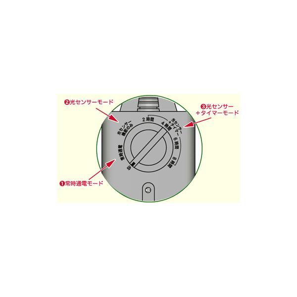 光センサー付タイマーコンセント 防雨 イルミネーション 光センサータイマースイッチ  CDS24|w-yutori|06