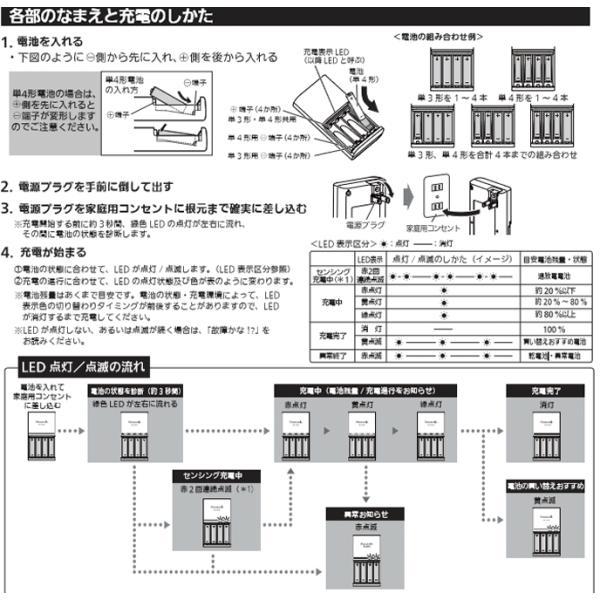 エネループ 充電池 単3 4本付 急速充電器セット K-KJ85MCC40 パッケージ無し|w-yutori|02