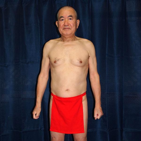 【5】和田爺謹製越中褌 古稀 高級晒木綿 紅白二枚組 wada-photo 05