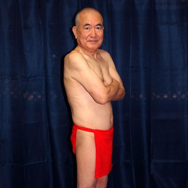 【5】和田爺謹製越中褌 古稀 高級晒木綿 紅白二枚組 wada-photo 07