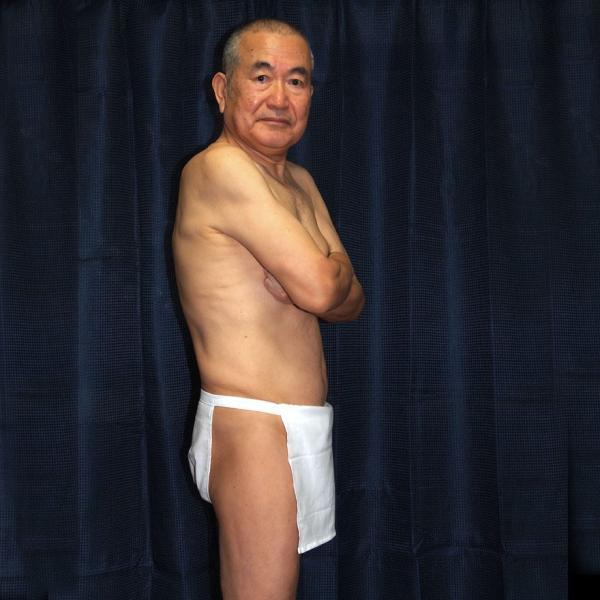 【5】和田爺謹製越中褌 古稀 高級晒木綿 紅白二枚組 wada-photo 08