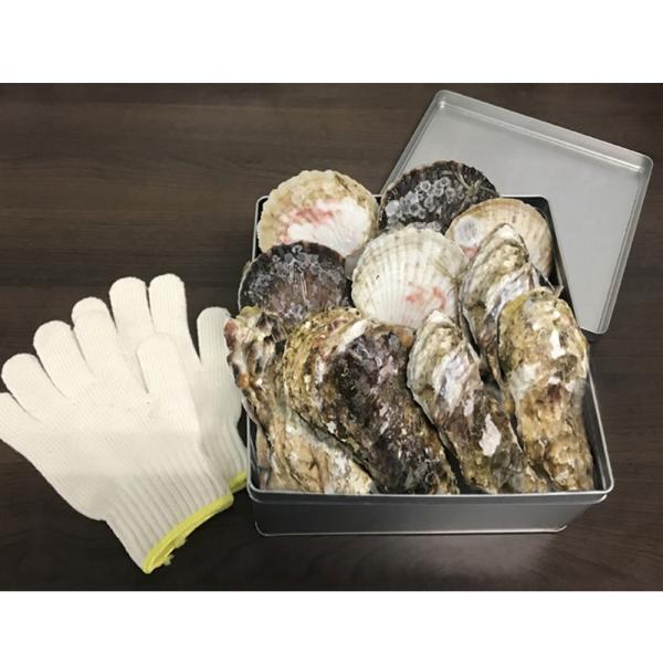 がごめ昆布入り津軽海峡塩を使った帆立と牡蠣のガンガン酒蒸しセット ホタテ 帆立 牡蠣 カキ お取り寄せ お土産 ギフト 特産品 名物商品