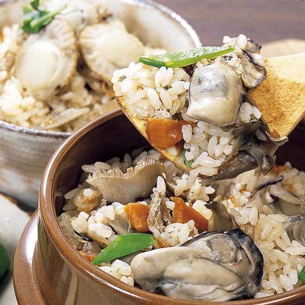 岩手三陸炊き込みご飯の素 3種セット 鮭・帆立・牡蠣
