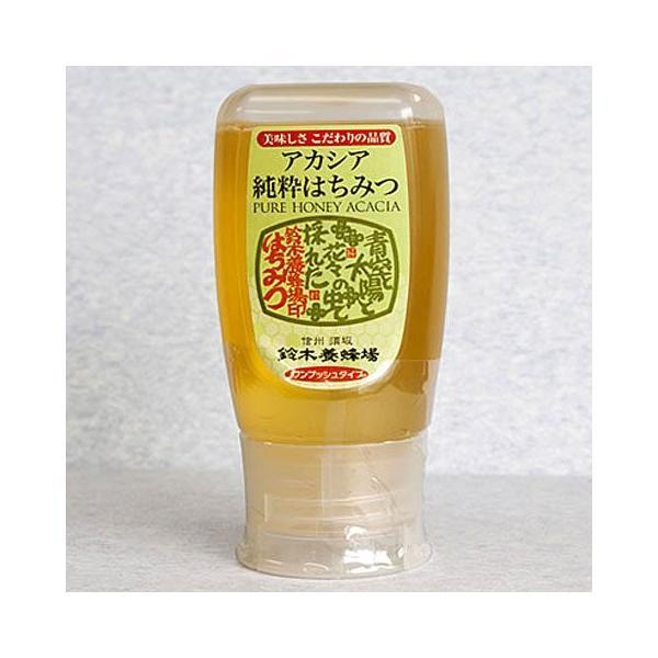 純粋アカシアはちみつ 蜂蜜 ワンプッシュボトル 300g 長野県 鈴木養蜂場 お取り寄せ お土産 ギフト プレゼント 特産品 名物商品 お歳暮 御歳暮 おすすめ