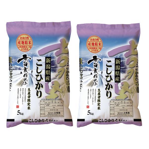 新潟 雪蔵仕込 新潟産コシヒカリ 5kg×2 お米 お取り寄せ お土産 ギフト プレゼント 特産品