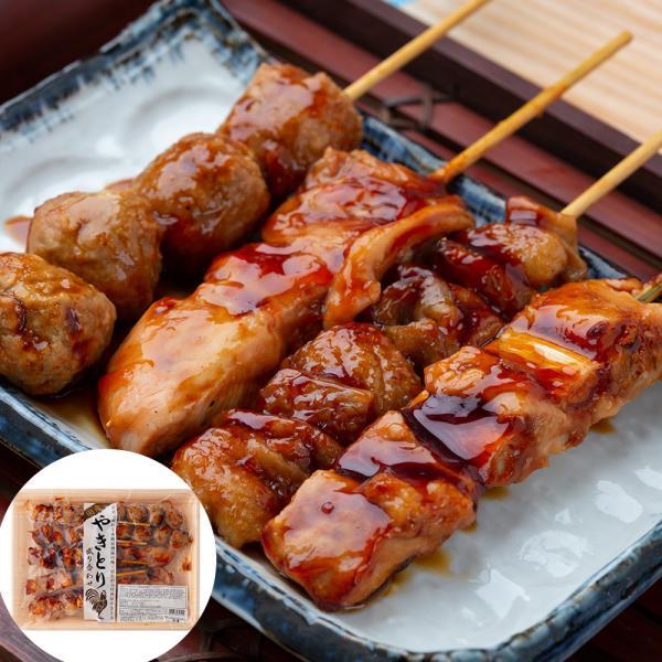 国産焼き鳥盛り合わせ(タレ付加熱済タイプ)【送料込み】 鶏肉 冷凍 お取り寄せ お土産 ギフト プレゼント