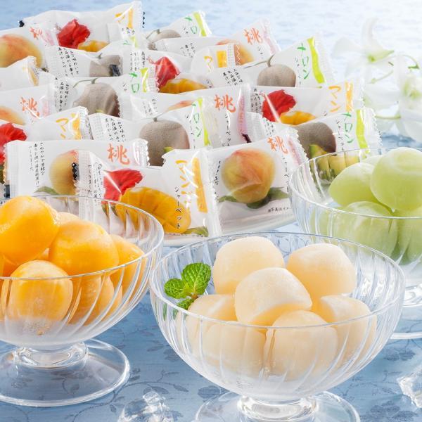 お中元 アイス ギフト アイスクリーム 岡山 果物屋さんのひとくちシャーベット 45個 A-OR スイーツ 洋菓子 御中元 お取り寄せ 通販 お土産