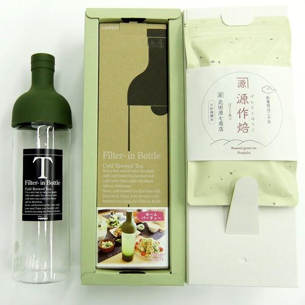 奈良県 奈良一番茶 「源作焙」フィルターインボトルセット