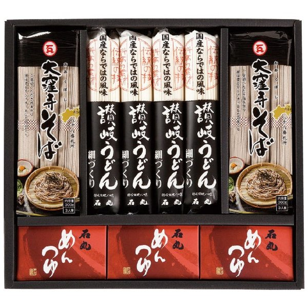 石丸 うどん・そば詰合せ「技麺」 TU-6 4271-014 うどん 麺類 蕎麦 お取り寄せ ギフト 特産品