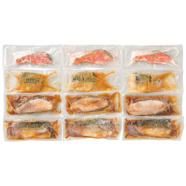氷温熟成 煮魚焼き魚詰め合せ4種12切 7414-058 お取り寄せ お土産 ギフト プレゼント 特産品 おすすめ