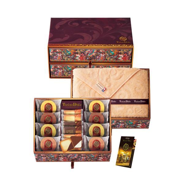 TresoreDolce[宝石箱]フルーツカラーバウム&今治産タオルセットバウムクーヘン個包装454-018Jお取り寄せ