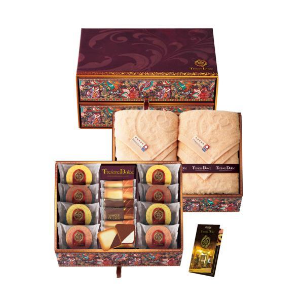 TresoreDolce[宝石箱]フルーツカラーバウム&今治産タオルセットバウムクーヘン個包装454-020Jお取り寄せ