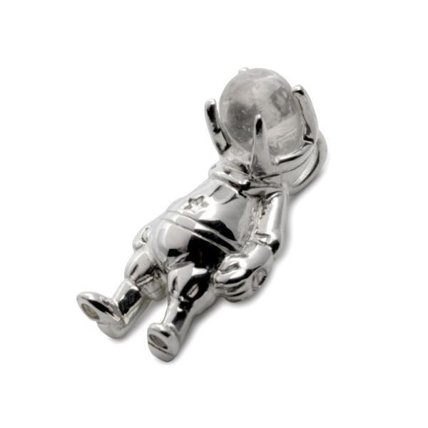 ネックレス ペンダント シルバー925 シルバー メンズ レディース ブランド 水晶 パワーストーン 天然石 宇宙飛行士