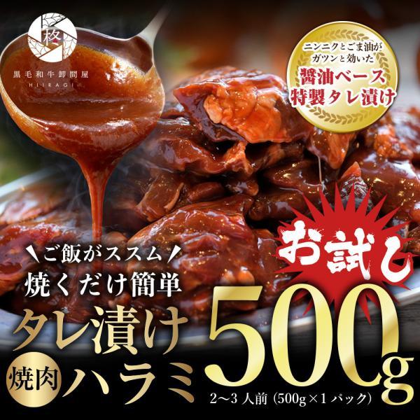 牛肉 肉 焼肉 タレ漬け ハラミ 500g (500g×1) バーベキュー BBQ 肉 大容量 メガ盛り お取り寄せグルメ ギフト 贈り物 通販 冷凍食品 ※送料別商品