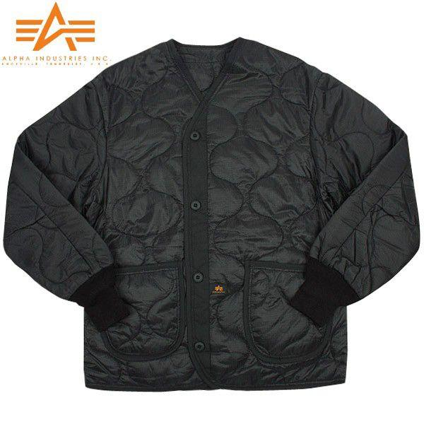 ALPHA アルファ 2065-001 M-65 フィールドジャケット用ライナー ブラック メンズ アウター ミリタリージャケット キルティングジャケット ブランド【Sx】|waiper