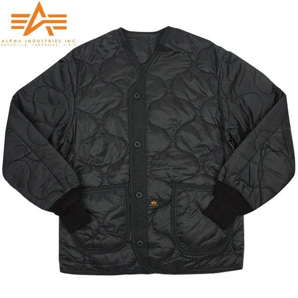 ALPHA アルファ 2065-001 M-65 フィールドジャケット用ライナー ブラック メンズ アウター ミリタリージャケット キルティングジャケット ブランド【Sx】|waiper|02