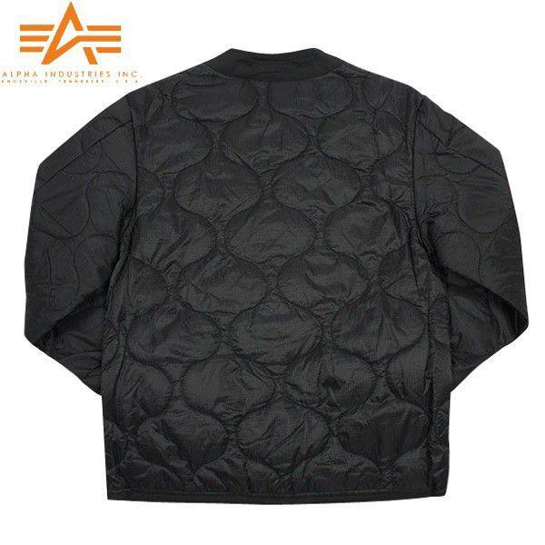 ALPHA アルファ 2065-001 M-65 フィールドジャケット用ライナー ブラック メンズ アウター ミリタリージャケット キルティングジャケット ブランド【Sx】|waiper|03