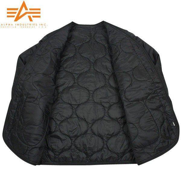 ALPHA アルファ 2065-001 M-65 フィールドジャケット用ライナー ブラック メンズ アウター ミリタリージャケット キルティングジャケット ブランド【Sx】|waiper|04