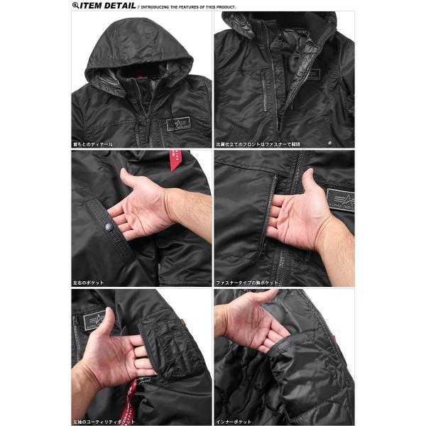 ALPHA アルファ TA1396 フーデッド リブジャケット NYLON HEAVY TWILL メンズ ミリタリージャケット コート ジャンパー アウター ブランド 新作|waiper|17