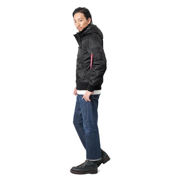 ALPHA アルファ TA1396 フーデッド リブジャケット NYLON HEAVY TWILL メンズ ミリタリージャケット コート ジャンパー アウター ブランド 新作|waiper|03
