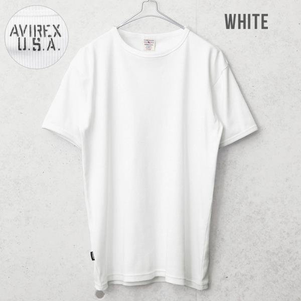 クーポンで20%OFF!  AVIREX アビレックス アヴィレックス 半袖 クルーネック Tシャツ メンズ インナー トップス 半袖 無地 6143502|waiper|02