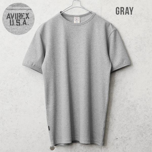 クーポンで20%OFF!  AVIREX アビレックス アヴィレックス 半袖 クルーネック Tシャツ メンズ インナー トップス 半袖 無地 6143502|waiper|03