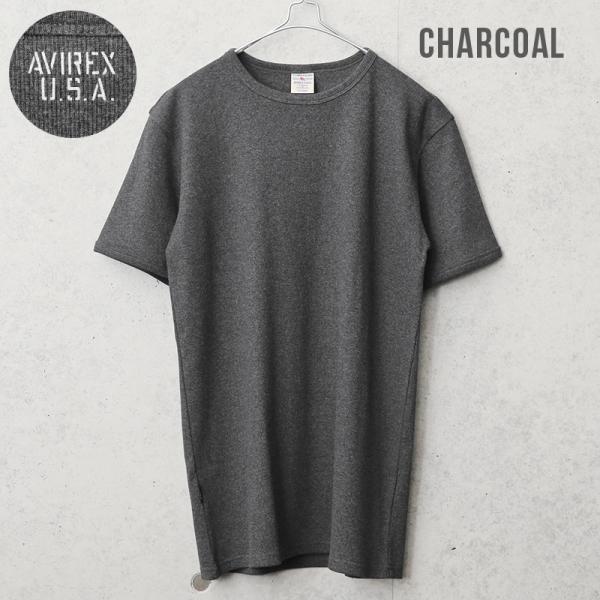 クーポンで20%OFF!  AVIREX アビレックス アヴィレックス 半袖 クルーネック Tシャツ メンズ インナー トップス 半袖 無地 6143502|waiper|04